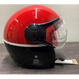 CASCO MOTO ROYAL ENFIELD TAGLIA XL (62 CM) RRGHEK000060 NERO-ROSSO CON VISIERA