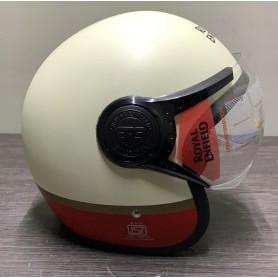 CASCO MOTO ROYAL ENFIELD TAGLIE XL (62 CM) COLORAZIONE ROSSO-BIANCO OPACO CON VISIERA