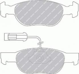 FDB1040B - Pastiglie freno anteriore - Ferodo
