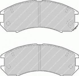 FDB576 - Pastiglie freno anteriore - Ferodo