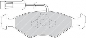 FDB912 - pastiglie freno anteriore - ferodo