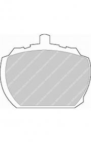 FVR833 - pastiglie freno anteriore - ferodo