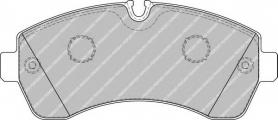 FVR1777 - pastiglie freno anteriore - ferodo