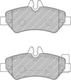 FVR1780 - pastiglie freno anteriore - ferodo