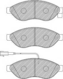 FVR1924 - pastiglie freno anteriore - ferodo