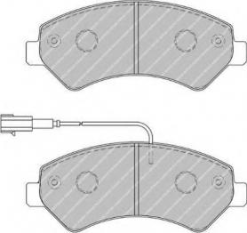 FVR1926 - pastiglie freno anteriore - ferodo