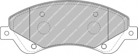pastiglie freno anteriore - ferodo