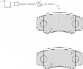 FVR4054 - pastiglie freno anteriore - ferodo