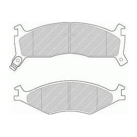 FDB1034 - Pastiglie freno anteriore - Ferodo