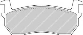FDB316 - pastiglie freno anteriori - ferodo