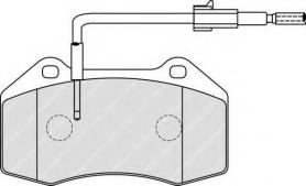 FDB4040 - PASTIGLIE FRENO ANTERIORI FIAT GRANDE PUNTO 1.4 T ABARTH CASSA 60/A