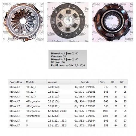 003387 - kit frizione renault 4